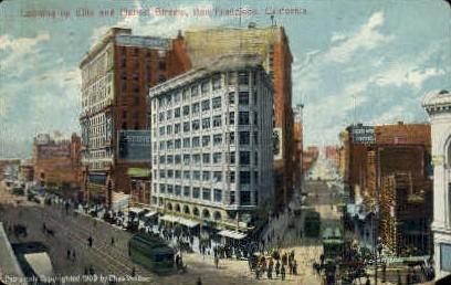 Ellis & Market Sts. - San Francisco, California CA Postcard