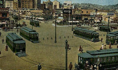 The Loop, Union Ferry Depot - San Francisco, California CA Postcard