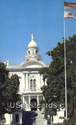 Country Court House - Merced, California CA Postcard