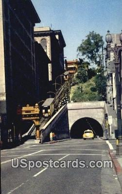 Angels' Flight Railway - Los Angeles, California CA Postcard