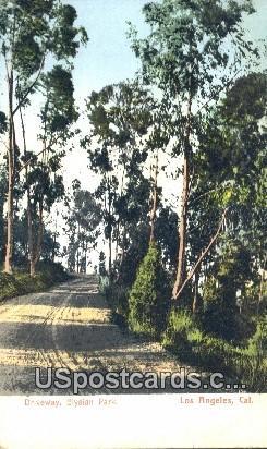 Driveway, Elysian Park - Los Angeles, California CA Postcard