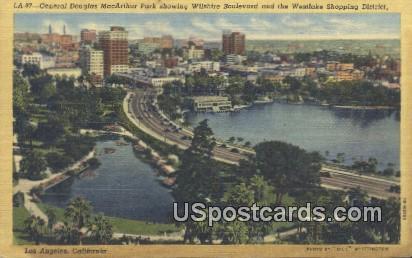 General Douglas MacArthur Park - Los Angeles, California CA Postcard