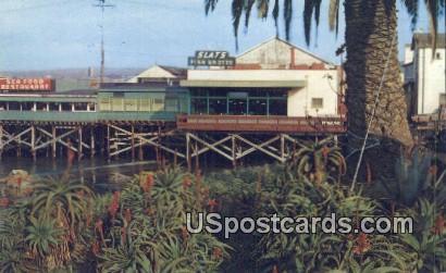 Slats Fish Grotto - Monterey, California CA Postcard
