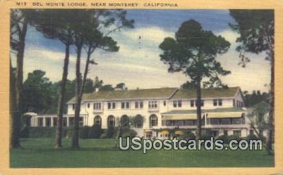 Del Monte Lodge - Monterey, California CA Postcard