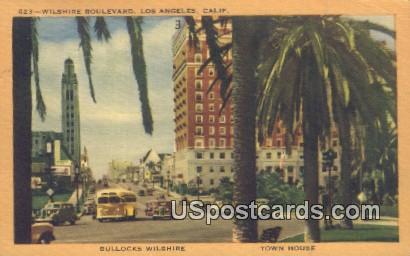 Wilshire Boulevard - Los Angeles, California CA Postcard