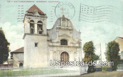 San Carlos Mission - Monterey, California CA Postcard