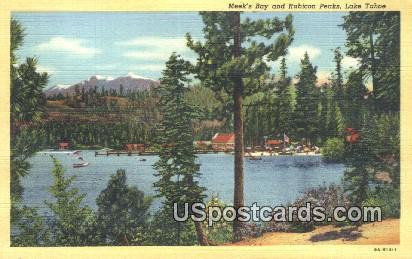 Meek's Bay & Rubicon Peaks - Lake Tahoe, California CA Postcard