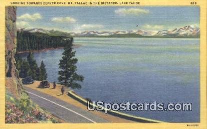 Zephyr Cove, Mt Tallac - Lake Tahoe, California CA Postcard