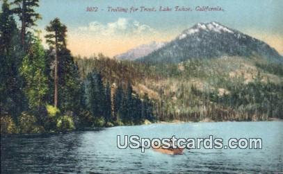 Lake Tahoe, California, Postcard       ;       Lake Tahoe, CA