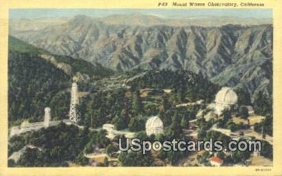 Mt. Wilson Observatory - California CA Postcard
