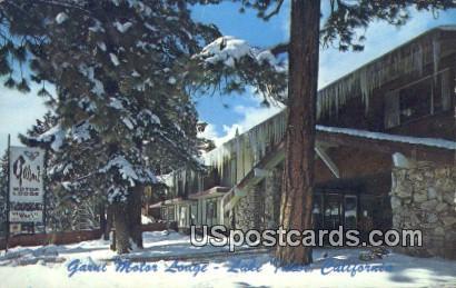 Garni Motor Lodge - Lake Tahoe, California CA Postcard