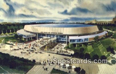 Los Angeles Memorial Sports Arena - California CA Postcard