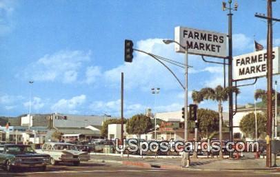 World Famous Farmers Market - Los Angeles, California CA Postcard