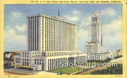 US Post Office & Court House - Los Angeles, California CA Postcard