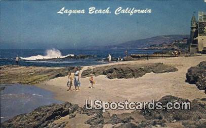 Victoria Beach - Laguna Beach, California CA Postcard