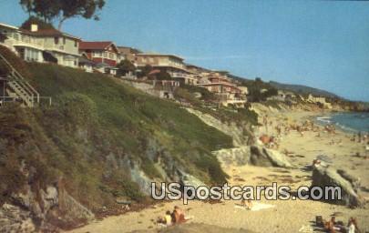 Halfway Rock - Laguna Beach, California CA Postcard