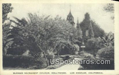 Blessed Sacrament Church - Los Angeles, California CA Postcard
