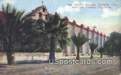 San Gabriel Mission - Los Angeles, California CA Postcard