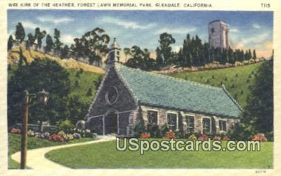 Week Kirk of the Heather - Glendale, California CA Postcard