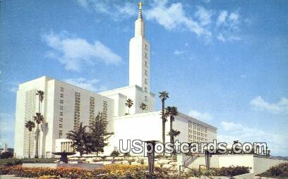 Church of Jesus Christ Latter Day Saints - Los Angeles, California CA Postcard