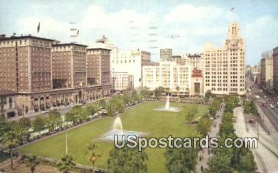 Pershing Square - Los Angeles, California CA Postcard