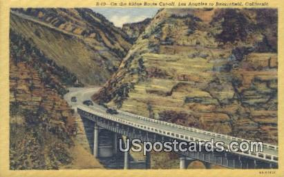 Ridge Route Cut Off - Los Angeles, California CA Postcard