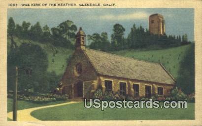 Wee  - Glendale, California CA Postcard