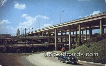 Freeway Stack - Los Angeles, California CA Postcard