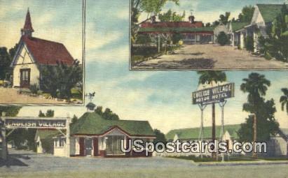 English Village Motor Hotel - El Centro, California CA Postcard
