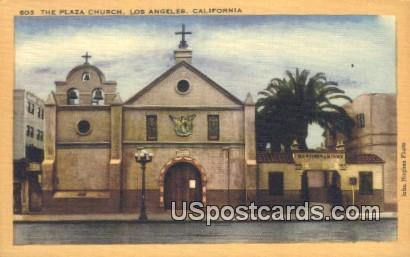 The Plaza Church - Los Angeles, California CA Postcard
