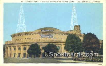 Church of the Four Square Gospel - Los Angeles, California CA Postcard
