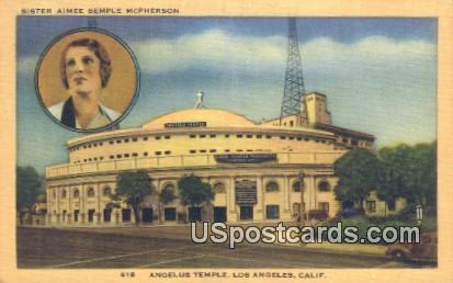 Sister Aimee Semple McPherson - Los Angeles, California CA Postcard