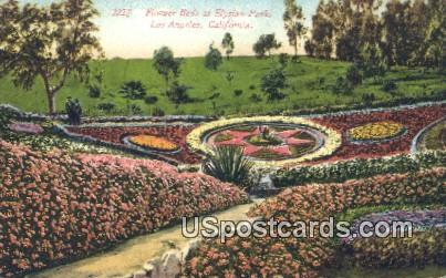Flower Beds, Elysian Park - Los Angeles, California CA Postcard