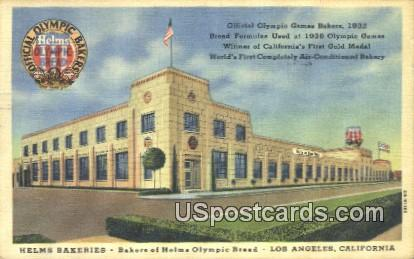 Helms Bakeries - Los Angeles, California CA Postcard