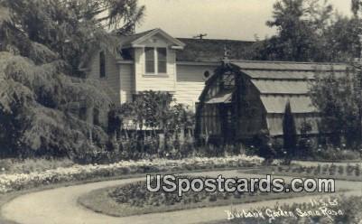 Real Photo - Burbank Garden - Santa Rosa, California CA Postcard
