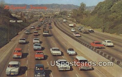 Hollywood Freeway - Los Angeles, California CA Postcard