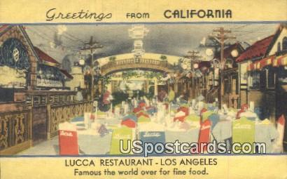 Lucca Restaurant - Los Angeles, California CA Postcard