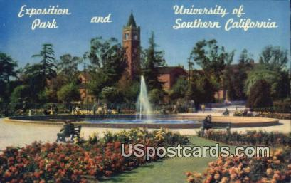 Exposition Park, U of Southern California - Los Angeles Postcard