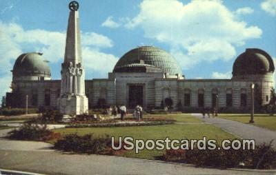 Planetarium & Observatory, Griffith Park - Los Angeles, California CA Postcard