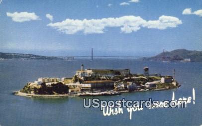 Alcatraz Island, CA Postcard       ;       Alcatraz Island, California
