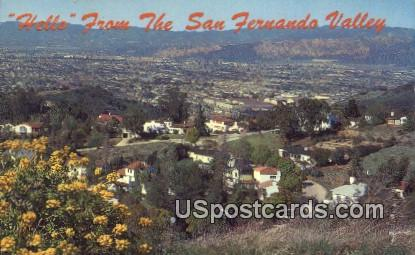 San Fernando Valley - Los Angeles, California CA Postcard