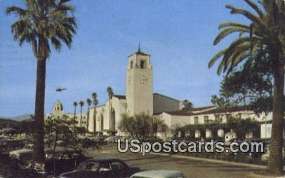 Union Station - Los Angeles, California CA Postcard