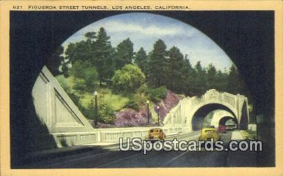 Figueroa Street Tunnels - Los Angeles, California CA Postcard