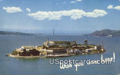 Alcatraz Island, California, Postcard       ;       Alcatraz Island, CA