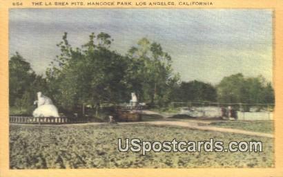 La Brea Pits, Hancock park - Los Angeles, California CA Postcard