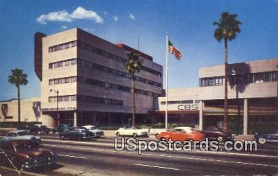 CBS Station - Los Angeles, California CA Postcard