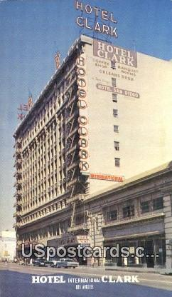 Hotel International Clark - Los Angeles, California CA Postcard