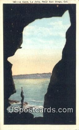 A Cave, La Jolla - San Diego, California CA Postcard