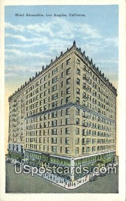 Hotel Alexandria - Los Angeles, California CA Postcard