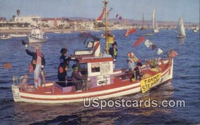 Tramp Steamer - Newport Harbor, California CA Postcard